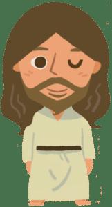 イエスさまのイラスト(ウインク)