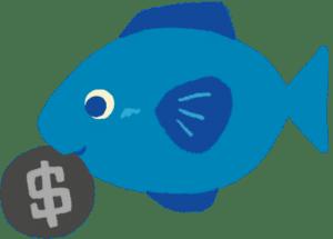 銀貨を加えた魚